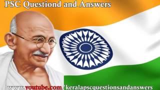 Mahatma Gandhi Kerala Psc Malayalam Questions And Answers