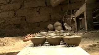 Diya making in process before Diwali Festival