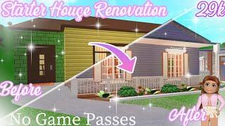 Bloxburg | I renovated the Starter House! No Game Passes 29k