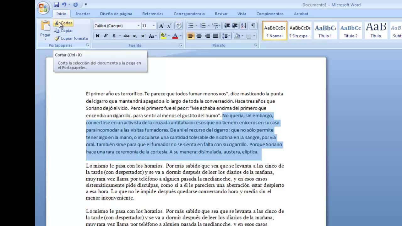 como seleccionar todo un texto en pdf