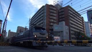 貨物列車 5088レ EF66-27 2018/08/02 西梅田第一踏切