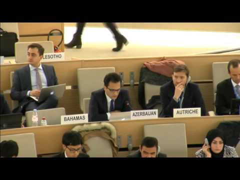Emin Aslanov - 34th HRC, Interactive dialogue with SR on minority issues, Geneva, 15 March 2017