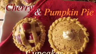 Cherry & Pumpkin Pie Cupcakes | Mcc