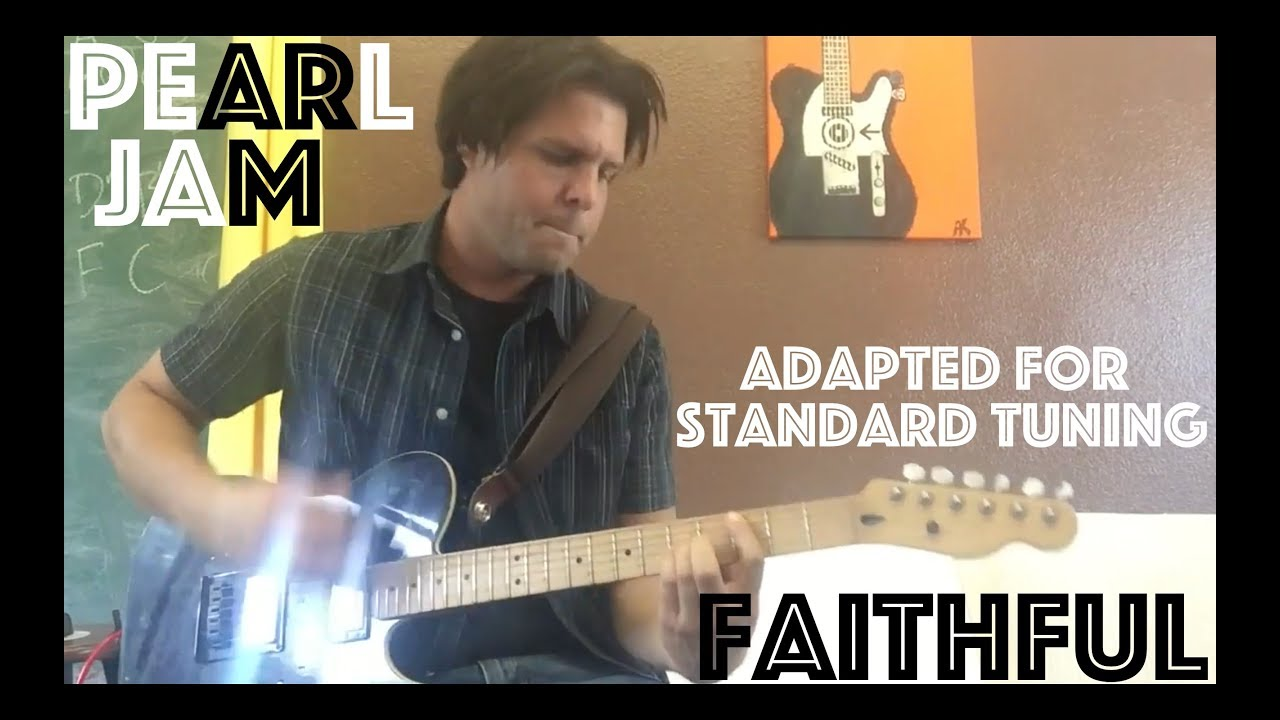guitar lesson how to play pearl jam 39 s faithful without tuning your guitar differently youtube. Black Bedroom Furniture Sets. Home Design Ideas