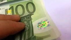 BANKNOTE 100 EUR BILL REAL VS FAKE