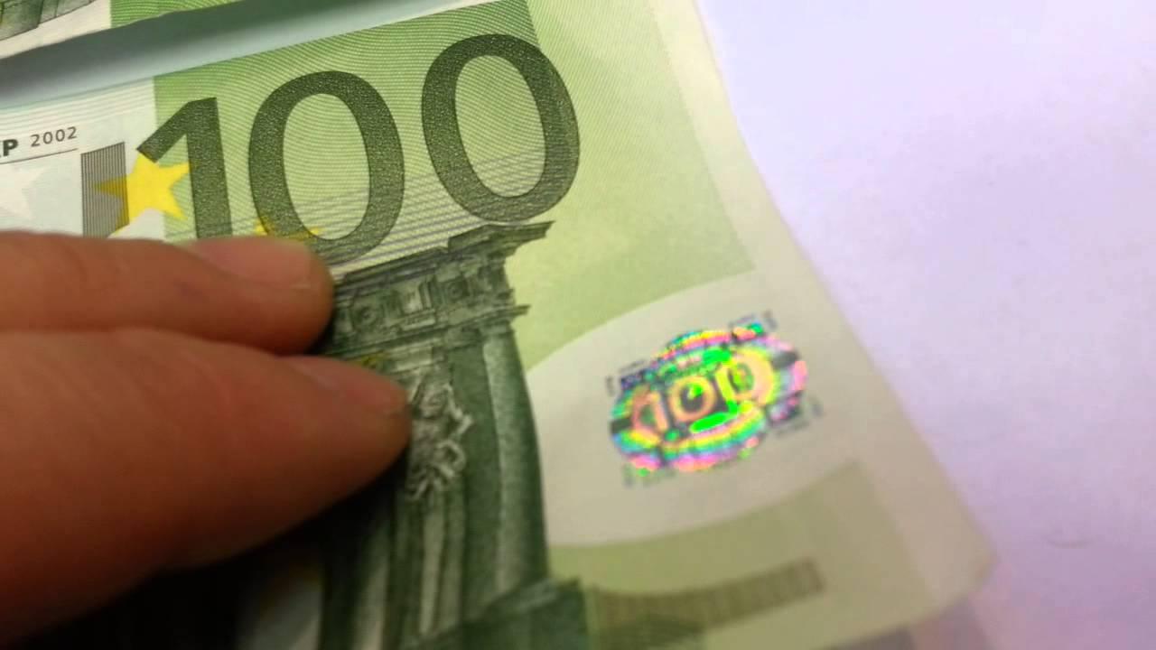 banknote 100 eur bill real vs fake youtube. Black Bedroom Furniture Sets. Home Design Ideas