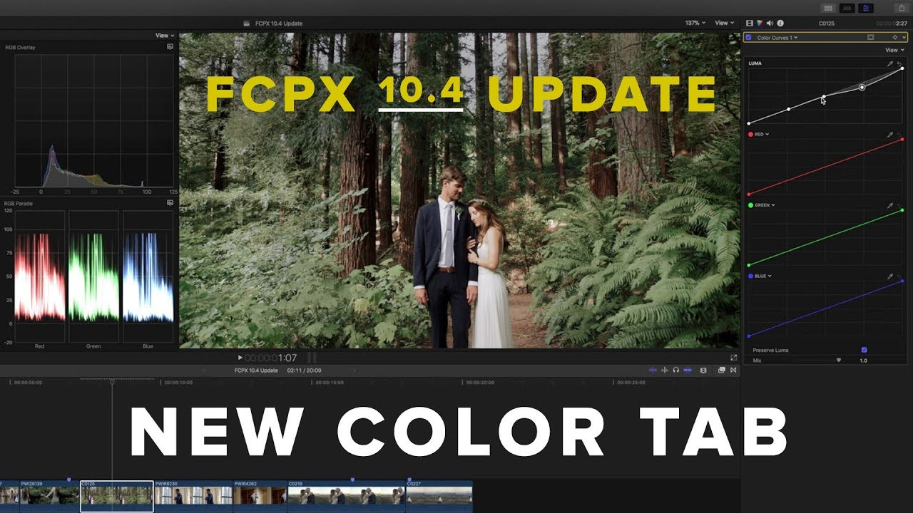 Tim Colore Fcpx 10 4 New Color Tab Update Finally