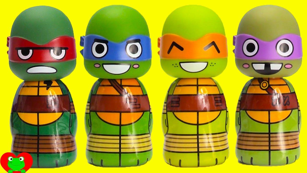 Teenage Mutant Ninja Turtles Bath Soaps With Paw Patrol Color Matching Youtube