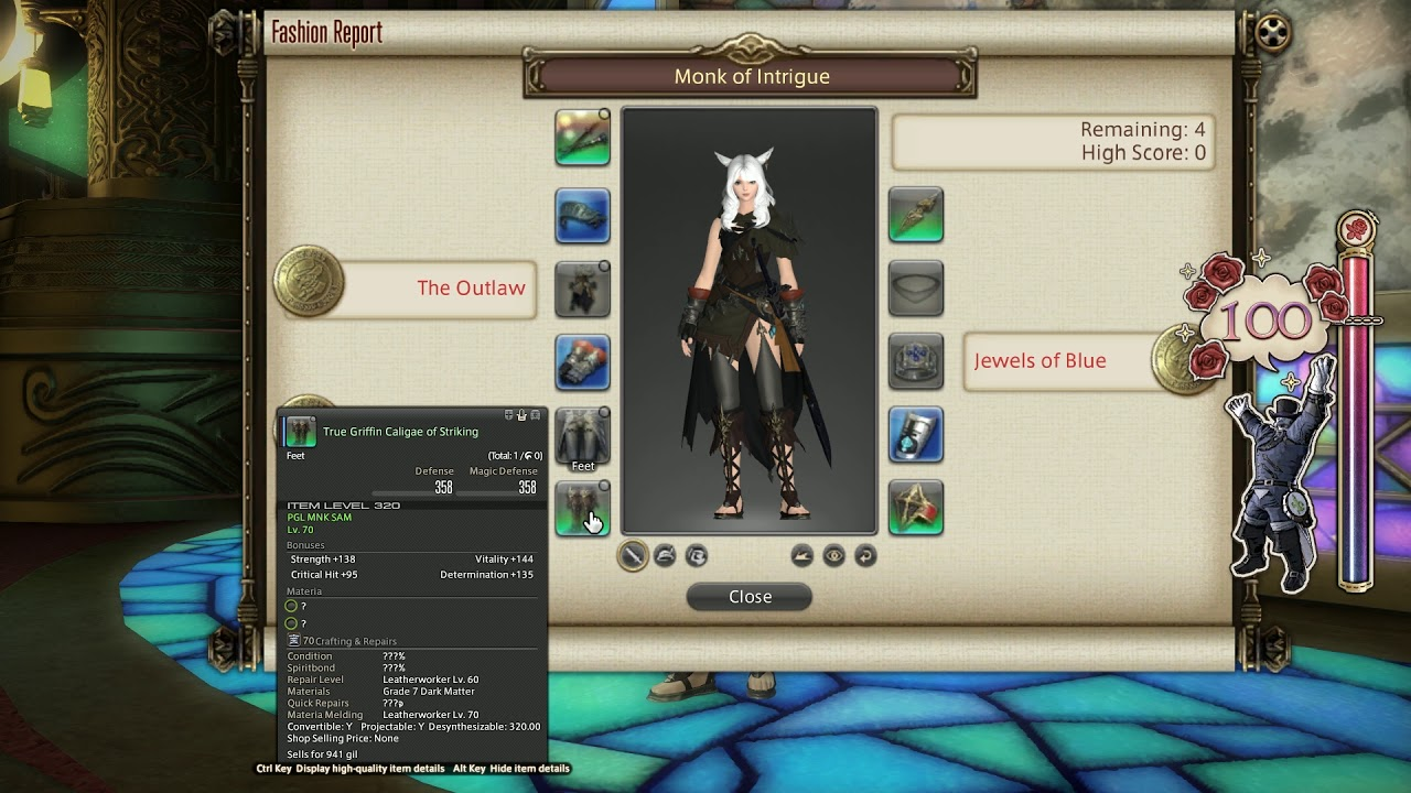 FFXIV: Fashion Report Friday - Week 60 - Theme : Monk of Intrigue