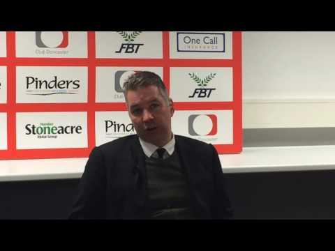 Darren Ferguson post Doncaster Rovers 3 Portsmouth 1