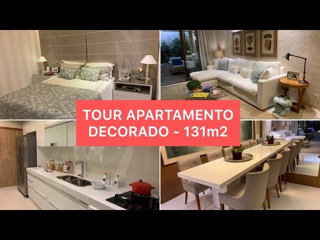 TOUR APARTAMENTO DECORADO - 131m2  #NODECORADO COM LUANA VIANA #1