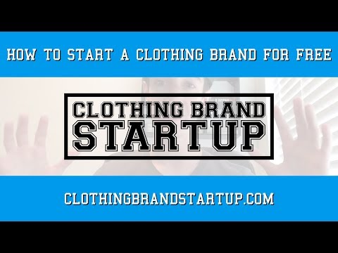 Start A Clothing Line For FREE! | Clothing Line Startup