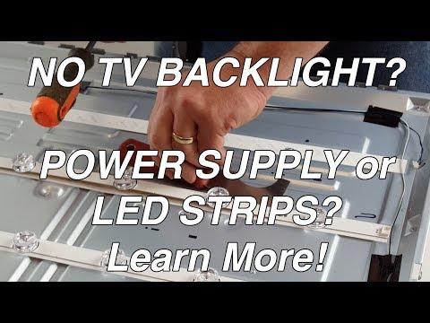 LG TV 55LF 55LB NC55 No Backlight - LED Voltage Test - Troubleshoot TV LEDs & Power Supply