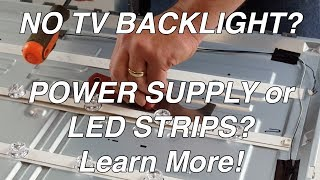 LG TV 55LF 55LB NC55 No Backlight - LED Voltage Test - Troubleshoot TV LEDs & Power Supply