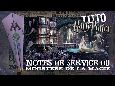 tuto harry potter notes de service du minist re de la