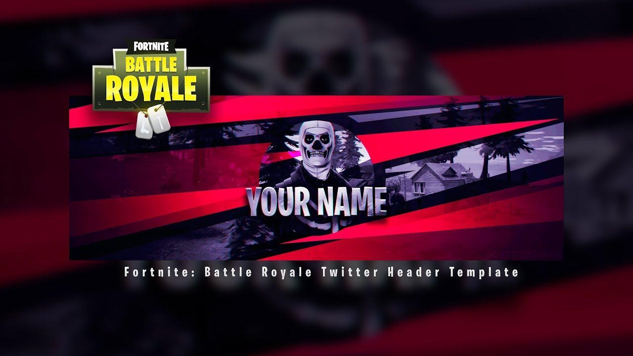 New Fortnite Battle Royale Header Template Fortnite Twitter
