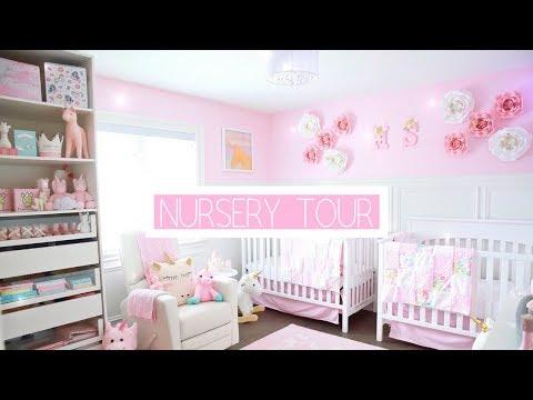 TWIN GIRLS NURSERY TOUR!👼🏻👼🏻🦄