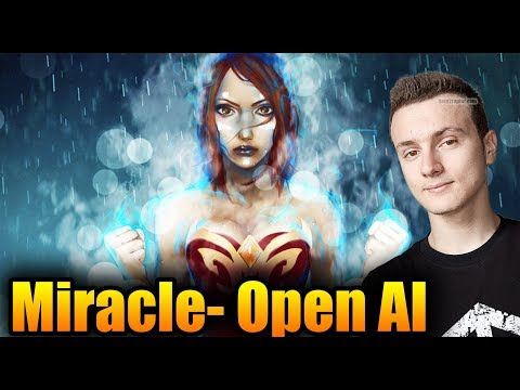 OPEN AI (BOT) In PARTY Ranked Match - Miracle- [Lina] Dota 2