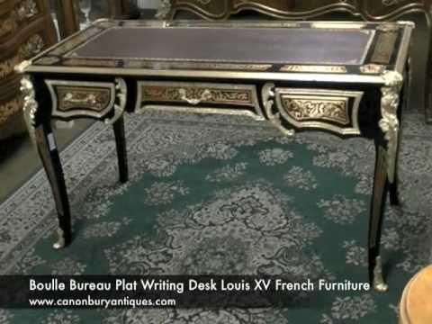 Boulle Bureau Plat Writing Desk Louis XV French Furniture