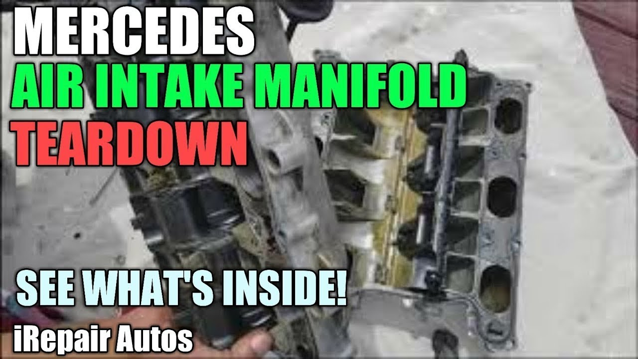 Mercedes Air Intake Manifold Tear Down | Error Code P2006 | DIY
