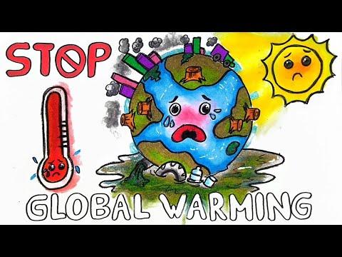 Cara Menggambar Dan Mewarnai Poster Tema Global Warming Pemanasan Global Yang Bagus Dan Mudah Youtube