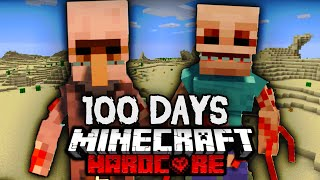 We Survived 100 Days in a PARASITE WASTELAND in Hardcore Minecraft... Here's What Happened