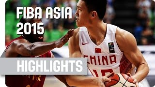 China v Qatar - Group F - Game Highlights - 2015 FIBA Asia Championship