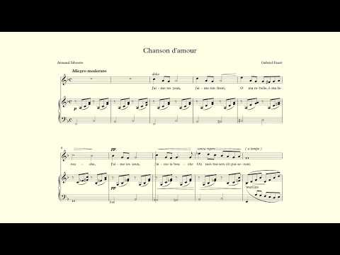 Chanson d'amour - Fauré - accompaniment in F major