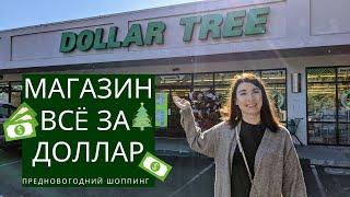 Магазин фикс прайс всё по доллару DOLLAR TREE США Новогодний шоппинг 2020 Влог