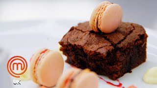 Pear Frangipane Tart & A Chocolate Brownie   MasterChef UK   MasterChef World
