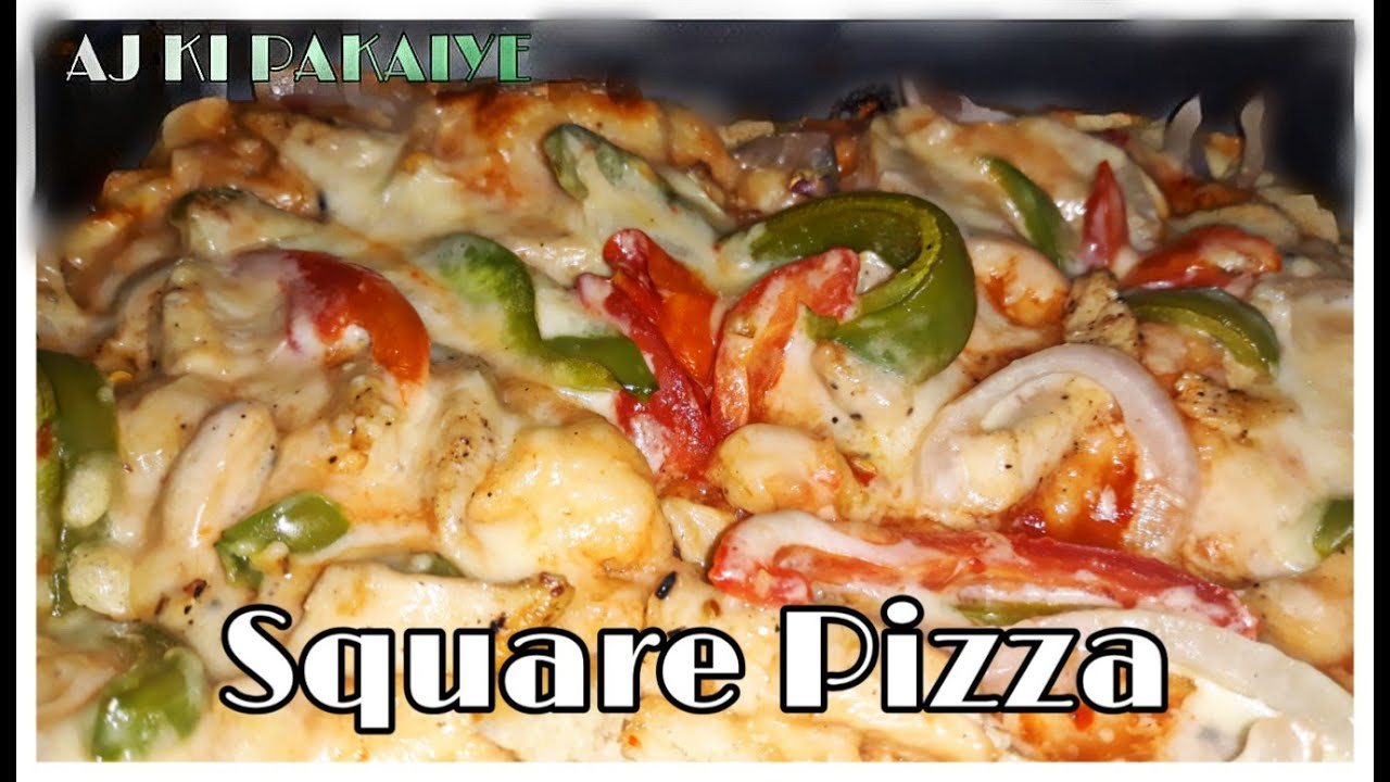 "HOW TO MAKE PIZZA AT HOME EASILY  WITHOUT OVEN // ""SQUARE PIZZA"" // PIZZA 101"