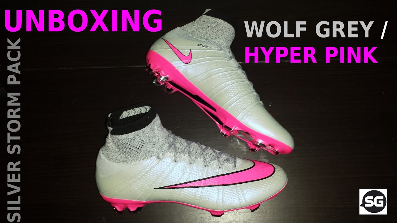 83a0e7d38b95 UNBOXING NIKE MERCURIAL SUPERFLY 4 WOLF GREY HYPER PINK + ON FEET ...