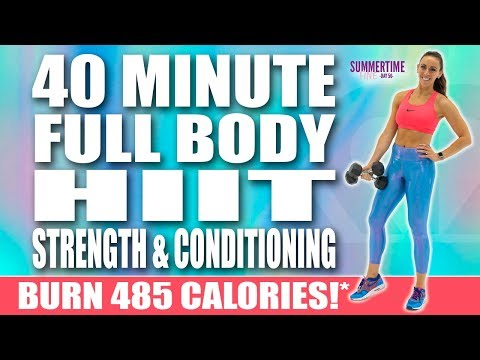 40 Minute HIIT FULL BODY STRENGTH AND CONDITIONING WORKOUT! 🔥Burn 485 Calories!* 🔥Sydney Cummings