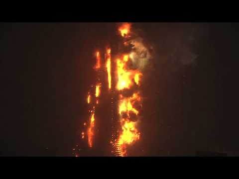 CCTV/TVCC fire in Beijing (HD version) 北京央视大楼着火 - close-up of fire explosion