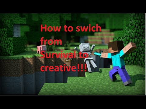 How To Change From Survival To Creative Mode In Minecraft With Disabled