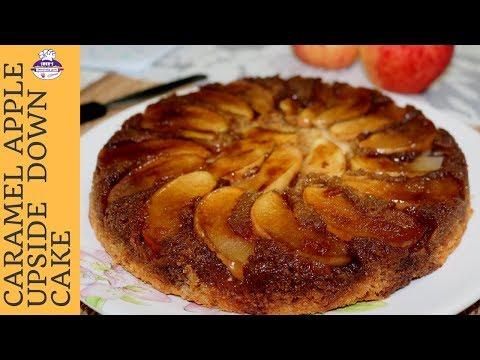 Caramel Apple Upside Down Cake | How to make upside down Apple cake | SREE'S BLISSFULLY YUM