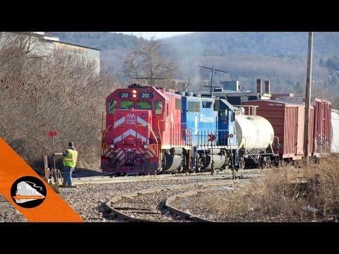 Vermont Railway shifting at Rutland, VT