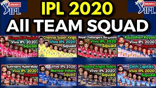 IPL 2020 | All Teams Probable Squad | CSK, MI, KKR, RCB, DC, RR, KXIP, SRH IPL 2020 Squad