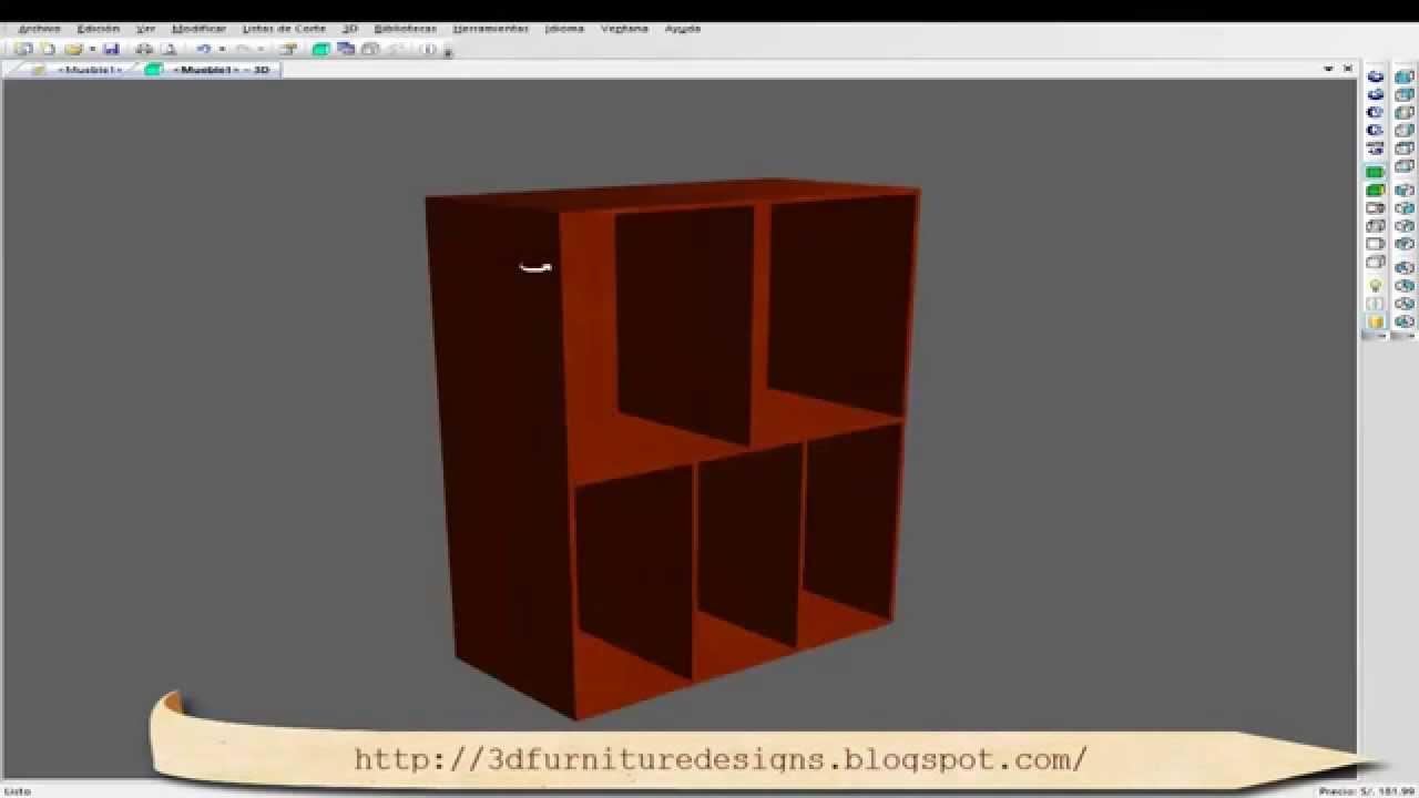 Programa para Diseñar Muebles, Armarios, Cocinas, EN 3D - YouTube
