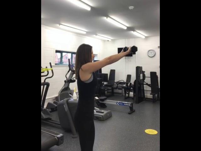 Sian Coughlan Fitness Training  -  Shoulder Tri Set