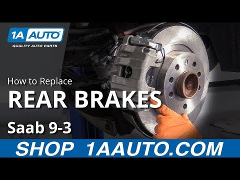 How to Replace Rear Brakes 03-14 Saab 9-3