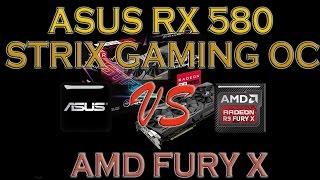 asus rx 580 strix gaming oc vs fury x benchmark review 1080p 1440p 4k