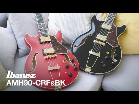 Ibanez AMH90 Cherry Red Flat & Black