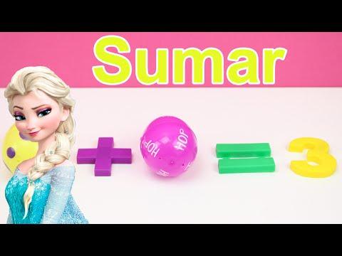 Vídeo educativo para niños para aprender a sumar con Frozen | Huevo sorpresa Frozen