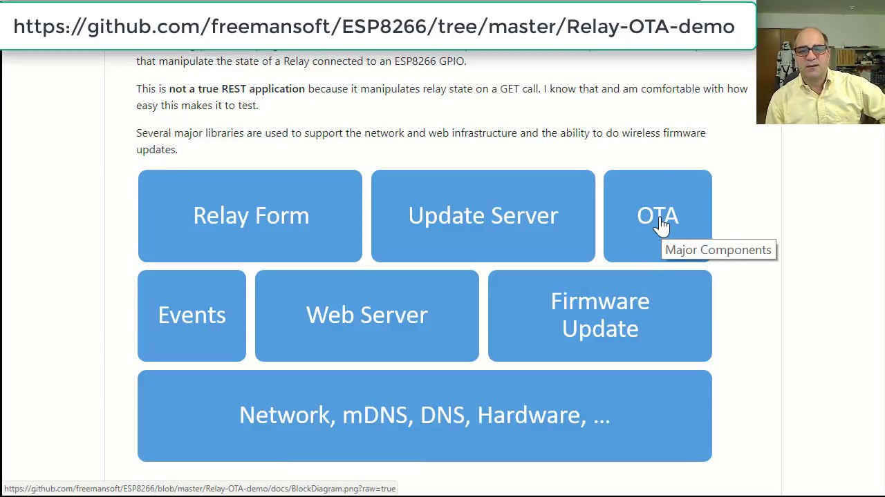 HTTP control, relay control and OTA/HTTP firmware updates