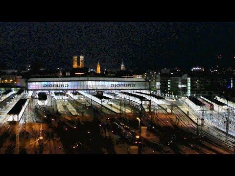 *Spezial* - Fotosafari Teil 4 -  Nachts auf dem Dach des Stellwerkes Hackerbrücke in München!!