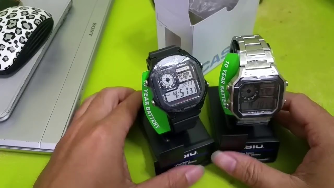 Video mở hộp đồng hồCasio AE1200WHD-1A vàCasio Men's AE1200WH-1A