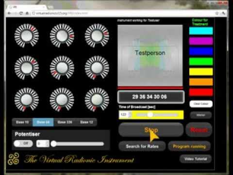 Virtual Radionic Instrument for tablets - Video Tutorial