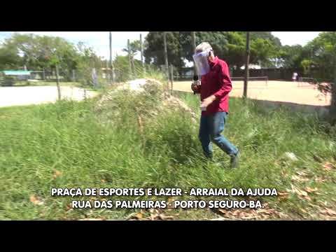 Praça abandonada Arraial da Ajuda Porto Seguro Bahia - Cadê a prefeitura?