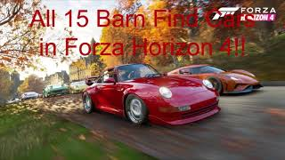 Every Barn Find Car in Forza Horizon 4!!